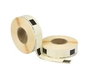 Brother DK11204 etiquetas compatibles, 17mm x 54mm, 400 etiquetas, blanco, permanente
