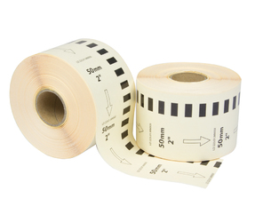 Brother DK-22223 etiquetas compatibles, 50mm x 30.48m, blanco, permanente