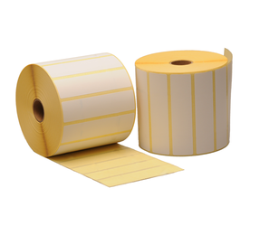 Zebra etiquetas compatibles, 102mm x 25mm, 2.580 labels, 25mm diametro, blanco, permanente