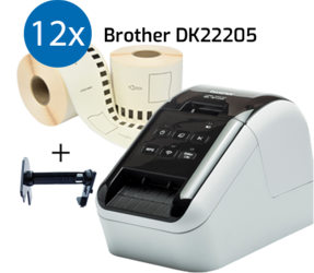 Impresora Brother QL810W + 12 rollos de etiquetas compatibles para Brother DK-22205 etiquetas